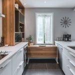 armoires de cuisine épuré