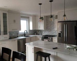 armoires de cuisine blanc